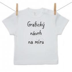 Tričko s krátkým rukávem s vlastní grafikou