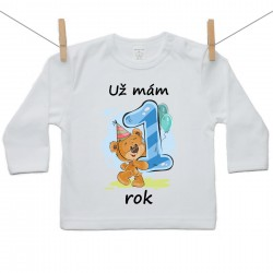 Tričko s dlouhým rukávem Už mám 1 rok Chlapec
