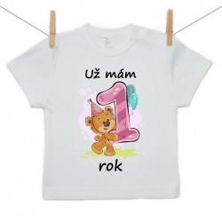 Tričko s krátkým rukávem Už mám 1 rok Dívka