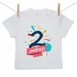 Tričko s krátkým rukávem 2 roky se jménem dítěte Chlapec