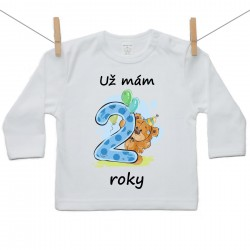 Tričko s dlouhým rukávem Už mám 2 roky Chlapec