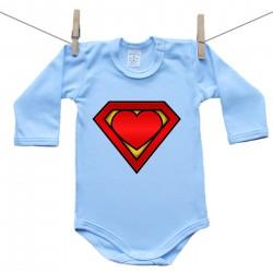 Body s dlouhým rukávem (modré) SuperMiminko