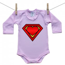 Body s dlouhým rukávem (růžové) SuperMiminko