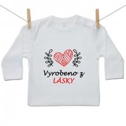 Tričko s dlouhým rukávem Vyrobeno z lásky