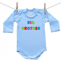 Modré body s dlouhým rukávem Big brother