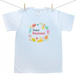 Pánské tričko s krátkým rukávem Veselé Velikonoce