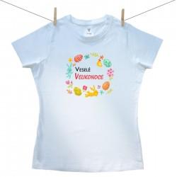 Dámské tričko s krátkým rukávem Veselé Velikonoce