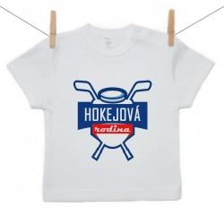 Tričko s krátkým rukávem Hokejová rodina