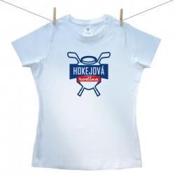 Dámské triko s krátkým rukávem Hokejová rodina