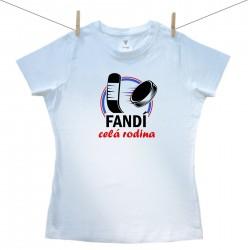 Dámské triko s krátkým rukávem Fandí celá rodina