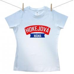 Dámské triko s krátkým rukávem Hokejová máma