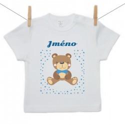 Tričko s krátkým rukávem se jménem dítěte Medvídek Chlapec