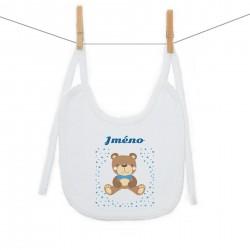 Bryndáček na zavazování se jménem dítěte Medvídek Chlapec