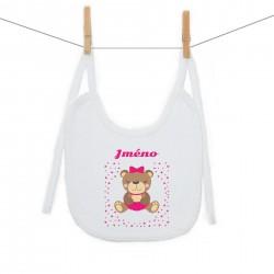 Bryndáček na zavazování se jménem dítěte Medvídek Dívka