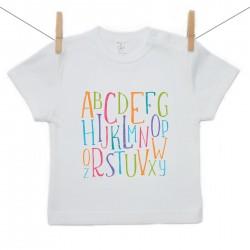 Tričko s krátkým rukávem Abeceda