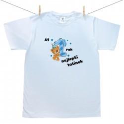 Pánské triko s krátkým rukávem Již 1 rok nejlepší tatínek chlapečka