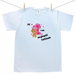 Pánské triko s krátkým rukávem Již 1 rok nejlepší tatínek holčičky