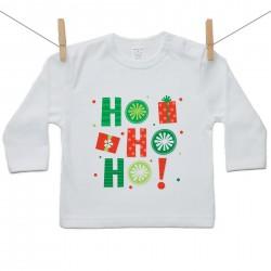 Tričko s dlouhým rukávem HO HO HO!