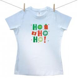 Dámské triko s krátkým rukávem HO HO HO!