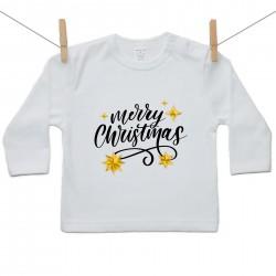 Tričko s dlouhým rukávem Merry Christmas