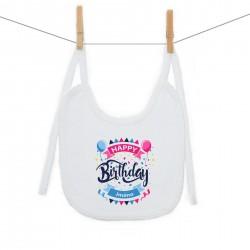 Bryndáček na zavazování Happy birthday s jménem dítěte