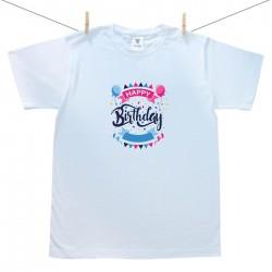 Pánské triko s krátkým rukávem Happy birthday
