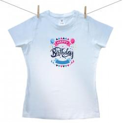 Dámské triko s krátkým rukávem Happy birthday