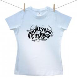 Dámské triko s krátkým rukávem Merry Christmas