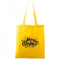 Žlutá taška Merry Christmas