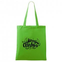 Zelená taška Merry Christmas