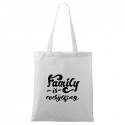 Bílá taška Family is everything