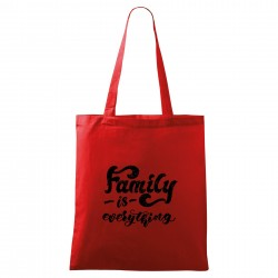 Červená taška Family is everything