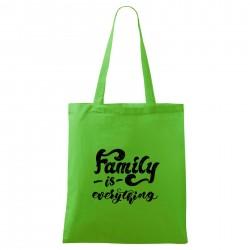 Zelená taška Family is everything