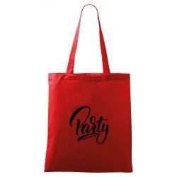 Červená taška Welcome to party