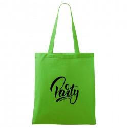 Zelená taška Welcome to party