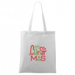 Bílá taška Merry Christmas