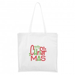 Bílá Maxi taška Merry Christmas
