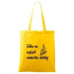 Žlutá taška Na nejlepší vánoční dárky