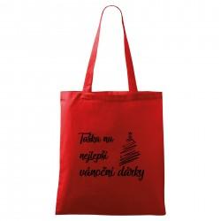 Červená taška Na nejlepší vánoční dárky