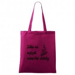 Fialová taška Na nejlepší vánoční dárky