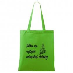 Zelená taška Na nejlepší vánoční dárky
