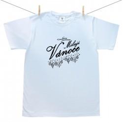 Pánské triko s krátkým rukávem Miluji Vánoce