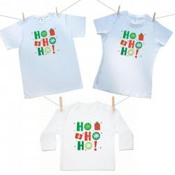 Rodinná sada (tričko s dlouhým rukávem) HO HO HO!