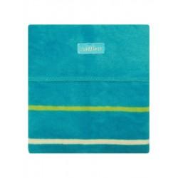 Dětská deka Womar 75x100 tyrkysová zelené pruhy