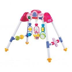 Dětská hrající edukační hrazdička De Lux Baby Mix pink