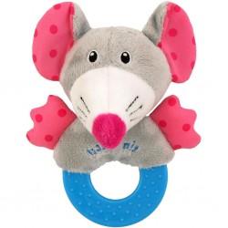 Dětské plyšové chrastítko Baby Mix myška