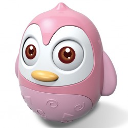 Kývací hračka Bayo tučňák pink