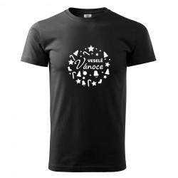 Černé pánské triko Veselé Vánoce