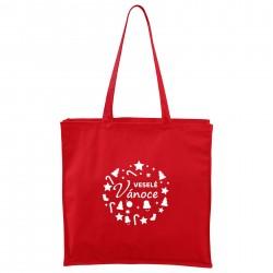 Červená Maxi taška Veselé Vánoce