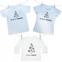 Rodinná sada (tričko s dlouhým rukávem) Veselé Vánoce